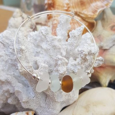 White & Brown Sea Glass