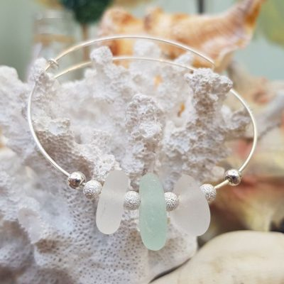 White-and-Sea-Foam-Sea-Glass-and-Sterling-Silver-Stardust-bangle.